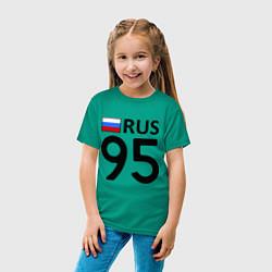 Футболка хлопковая детская RUS 95 цвета зеленый — фото 2