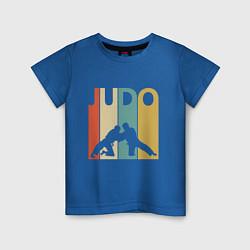 Футболка хлопковая детская Judo цвета синий — фото 1