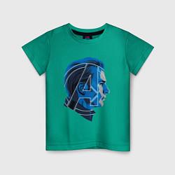 Футболка хлопковая детская Captain America: Avengers цвета зеленый — фото 1