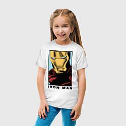 Футболка хлопковая детская Iron Man цвета белый — фото 2