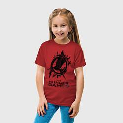 Футболка хлопковая детская The Hunger Games цвета красный — фото 2