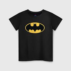 Футболка хлопковая детская Batman цвета черный — фото 1