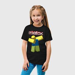 Футболка хлопковая детская Roblox Dab цвета черный — фото 2