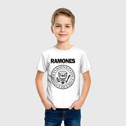 Футболка хлопковая детская RAMONES цвета белый — фото 2