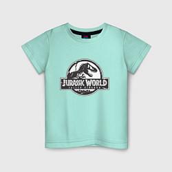 Футболка хлопковая детская Jurassic World цвета мятный — фото 1