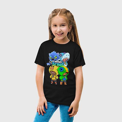 Детская футболка Brawl Stars Leon Quattro / Черный – фото 4