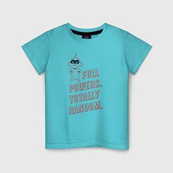 Футболка хлопковая детская Jack-Jack Parr цвета бирюзовый — фото 1