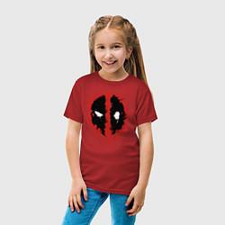 Футболка хлопковая детская Deadpool logo цвета красный — фото 2