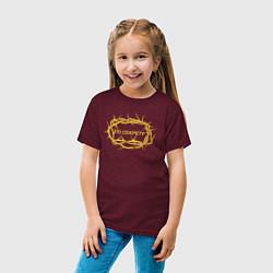 Футболка хлопковая детская Макс Барских: По секрету цвета меланж-бордовый — фото 2