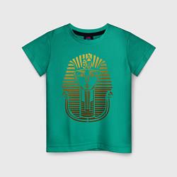 Футболка хлопковая детская Тутанхамон цвета зеленый — фото 1