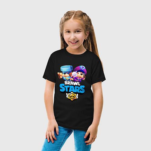 Детская футболка Генерал Гавс - Brawl Stars / Черный – фото 4