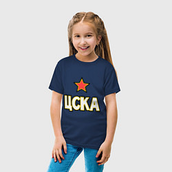 Футболка хлопковая детская ЦСКА цвета тёмно-синий — фото 2