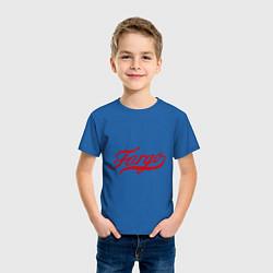 Футболка хлопковая детская Fargo цвета синий — фото 2