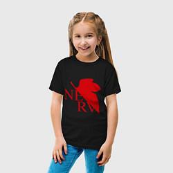 Футболка хлопковая детская Евангелион NERV цвета черный — фото 2