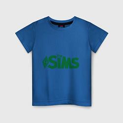 Футболка хлопковая детская Sims цвета синий — фото 1