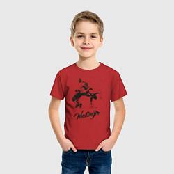 Футболка хлопковая детская Wrestling цвета красный — фото 2