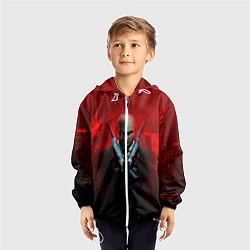 Ветровка с капюшоном детская Hitman: Red Blood цвета 3D-белый — фото 2
