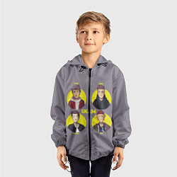 Ветровка с капюшоном детская Skam Faces цвета 3D-черный — фото 2