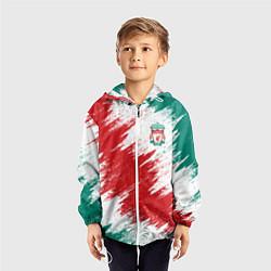 Ветровка с капюшоном детская FC Liverpool цвета 3D-белый — фото 2