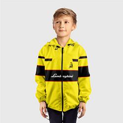 Ветровка с капюшоном детская Lamborghini Style цвета 3D-черный — фото 2