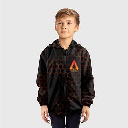 Ветровка с капюшоном детская Apex Legends: Orange Carbon цвета 3D-черный — фото 2