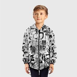 Ветровка с капюшоном детская МОБ ПСИХО 100 цвета 3D-черный — фото 2