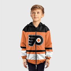 Ветровка с капюшоном детская Philadelphia Flyers цвета 3D-черный — фото 2