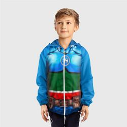 Ветровка с капюшоном детская Капитан Татарстан цвета 3D-белый — фото 2