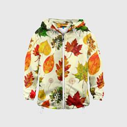 Ветровка с капюшоном детская Осень цвета 3D-белый — фото 1