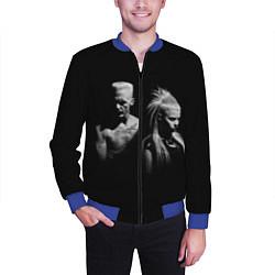 Бомбер мужской Die Antwoord: Black цвета 3D-синий — фото 2