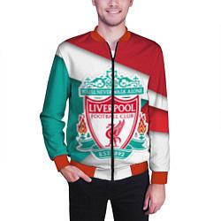 Бомбер мужской FC Liverpool цвета 3D-красный — фото 2