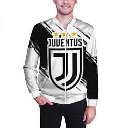 Бомбер мужской Juventus: 3 Stars цвета 3D-белый — фото 2