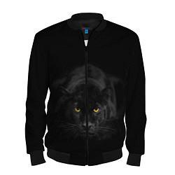 Бомбер мужской Пантера цвета 3D-черный — фото 1