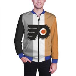 Бомбер мужской Philadelphia Flyers цвета 3D-синий — фото 2