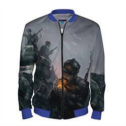 Бомбер мужской Солдаты цвета 3D-синий — фото 1