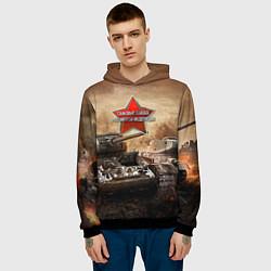 Толстовка-худи мужская Танковые войска РФ цвета 3D-черный — фото 2