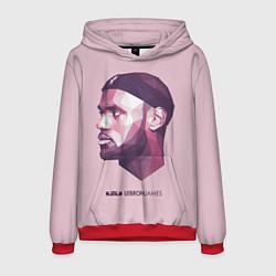 Толстовка-худи мужская LeBron James: Poly Violet цвета 3D-красный — фото 1