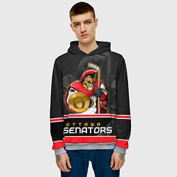 Толстовка-худи мужская Ottawa Senators цвета 3D-меланж — фото 2