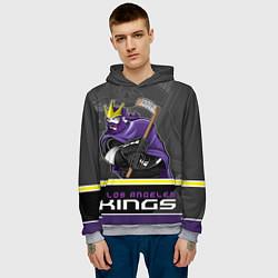 Толстовка-худи мужская Los Angeles Kings цвета 3D-меланж — фото 2