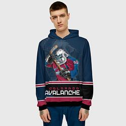 Толстовка-худи мужская Colorado Avalanche цвета 3D-черный — фото 2