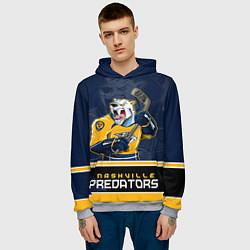 Толстовка-худи мужская Nashville Predators цвета 3D-меланж — фото 2