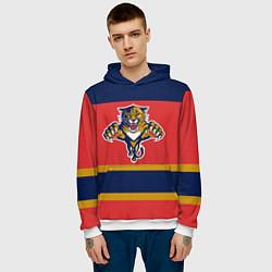 Толстовка-худи мужская Florida Panthers цвета 3D-белый — фото 2