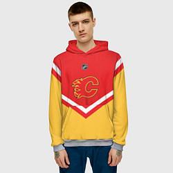 Толстовка-худи мужская NHL: Calgary Flames цвета 3D-меланж — фото 2