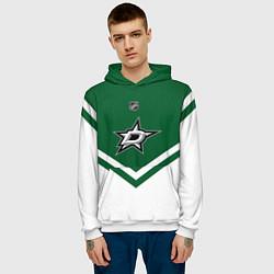 Толстовка-худи мужская NHL: Dallas Stars цвета 3D-белый — фото 2