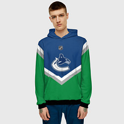 Толстовка-худи мужская NHL: Vancouver Canucks цвета 3D-черный — фото 2