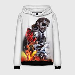 Толстовка-худи мужская Metal gear solid 2 цвета 3D-черный — фото 1