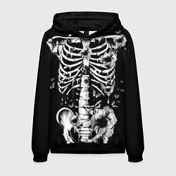 Толстовка-худи мужская Floral Skeleton цвета 3D-черный — фото 1