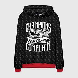 Толстовка-худи мужская Champions Train цвета 3D-красный — фото 1