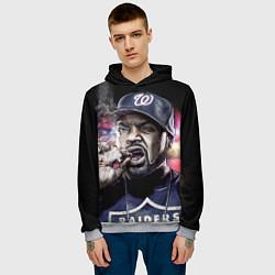 Толстовка-худи мужская Ice Cube: Big boss цвета 3D-меланж — фото 2