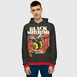 Толстовка-худи мужская Black Mirror: Nated Nation цвета 3D-красный — фото 2